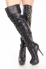 Women's Lace Up Over Knee Party Boots