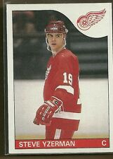 1985-86 Topps Hockey Steve Yzerman Card # 29