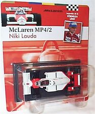 McLaren MP4/2 NIKI LAUDA 1984 SCALA 1-43 NUOVO IN BLISTER cardate