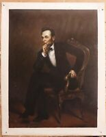 "Repro art oil painting on canvas Abraham Lincoln OF George P. A. Healy 30""x40"""