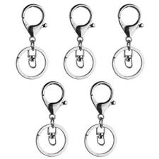 5Pcs Trigger Clasp Swivel Clip Key Ring Split Ring for Keychain DIY Black