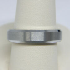 TRITON MEN'S 5.0MM COMFORT FIT WHITE TUNGSTEN CARBIDE WEDDING BAND RING