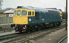 Class 33 diesel locomotive 33012 Westbury Wiltshire 1975 unused OPC postcard