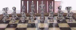 "Tigrani ""Nudes"" Sterling Silver Chess Set"