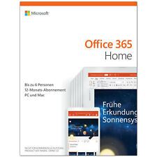 Microsoft Office 365 Home 6 Nutzer 1 Jahr Abo MS Office 365 Family DE