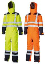Dickies Waterproof Padded HI VIS VIZ COVERALL Overall Biker Tunnel Suit SA7000