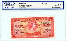 Bermuda … P-19a … 10 Shillings … 1952 … *XF*