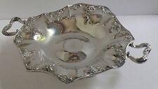 Antique Barbour Silver Quadruple Silverplate Floral Pedestal Candy Bon Bon Dish