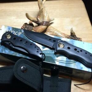 """Frost Cutlery 2pc Wolf Knife Set 8 1/2"""" Fixed 4 1/2"""" Linerlock w/Sheath F18362W"""