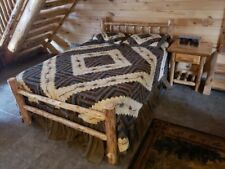 Rustic Log Bed!  Rustic Log Funiture!  Wilderness Series Saves space and money!