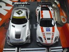 OFERTON Scalextric Aston Martin DBR9 y Mercedes SLS Amg Gt3 SCX  1/32
