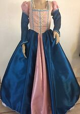 "Elizabethan Tudor Renaissance Faire Juliet Dress Gown & Hat - 34"" Bus"