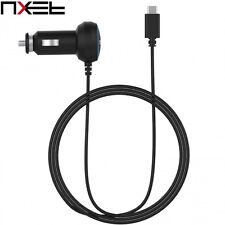 NXET Universal Black USB-C Car Charger with Cable for Phones Tablets Consoles