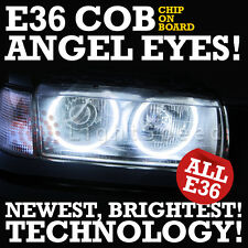 BMW E36 ALL E36 COB LED ANGEL EYES ANGELEYES 105 BEADS PER RING SERIOUSLY BRIGHT