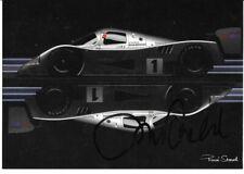 JOCHEN MASS MERCEDES C11 LE MANS 1990 WINNER AUTOGRAPHED POSTCARD CARTE POSTAL