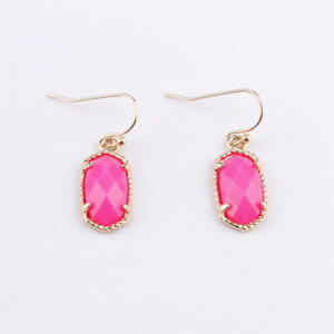 Gold Silver Claw Faceted Resin Geometric Boutique Earrings Women Fashion Jewelry
