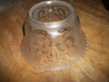 """Original Victorian Antique Etched Glass Lamp Shade 7 1/2"""" x 4"""""""