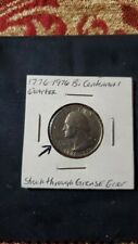 "1776 - 1976D Bicentennial Quarter struck through grease mint error IGWT ""IN"""
