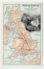 More details for valley of the eden: midland railway 1904 official map postcard (c63479)