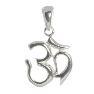 Om Ohm Aum Zeichen Anhänger 925 Sterling Silber 2,8 cm Bella Carina Esoterik