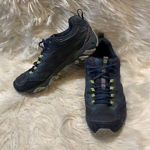 Merrell Men's Moab Vibram Waterproof Hiking Shoe J35787 Navy Blue Green Size8