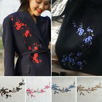 New Plum Flower Motif Lace Applique Collar Embroidery Venise Patch Sew Accesscry