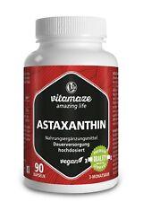 Natürliches Astaxanthin 4 mg VEGAN, 90 Kapseln Antioxidant für 3 Monatsvorrat
