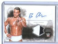 WWE Bo Dallas 2015 Topps Undisputed Autograph Relic Card Black & White