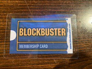 CUSTOMIZED Blockbuster Membership Card Plastic Sealed*Your Info On Card*