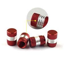 4x Red Anodized Aluminum Tire/Wheel Air Pressure Valve Stem Cap Car Accessories