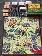 """1920's Milton Bradley  """"UNCLE WIGGLY"""" Game PLAYING PIECES, CARDS , BOX & BOARD"""