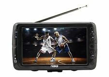 NAXA 7 INCH LCD SCREEN PORTABLE 12V AC/DC DIGITAL TUNER TV TELEVISION MP3 PLAYER