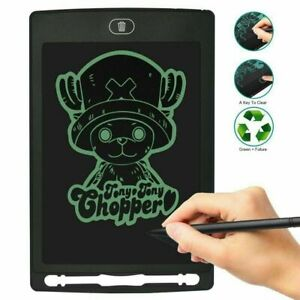 """10"""" LCD Writing Tablet Drawing Board Pad E Writer Digital Notepad For Kids Black"""