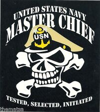 NAVY MASTER CHIEF PETTY OFFICER SKULL STICKER DECAL