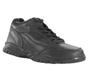 Leather Mid Hi Shoe Anti-Bacterial Anti-Fungal Arch Support 4E WIDE Sz 5 to 17