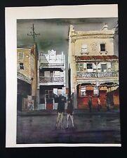 "1966 Vintage Australia Full Color Art Plate ""KINGS CROSS, SYDNEY"" McIntyre Litho"