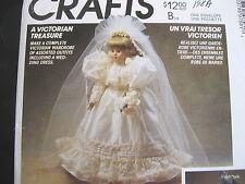 "Victorian Treasure Fancy Wedding Dress cape Craft pattern pantaloon 13""-16"" doll"