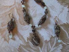 Made By Martha Rose Greiner Artisan Made Ocean Jasper Necklace/Earrings Set