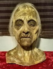 Halloween Horror Old Grandpa Zombie Prop Head & Hands - Haunted House SCARY!