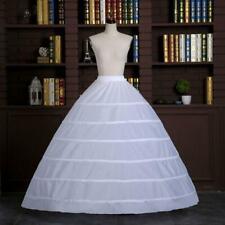 Wedding Dress Skirt Support Costume Petticoat Slip 6-Hoops Yarnless Petticoats