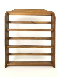 McCormick Schilling Spice Rack 3 Tier Wood Oak Rack Only Counter Sit Wall Hang