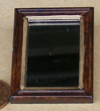 1:12 Scale Wooden Framed Mirror With Real Glass 3.7cm x 5cm Tumdee Dolls House S