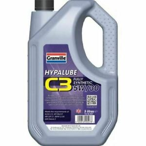 5w30 Fully Synthetic Motor Engine Oil *C3 Spec* Dexos 2 Hypalube  5 Litres