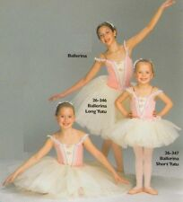 Ballerina Dance Costume Short Peach Ivory Ballet Tutu Clearance Adult X-Large