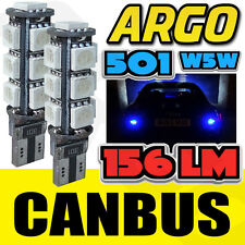 AUDI A4 S4 B6 00-04 BRIGHT CANBUS LED SIDE LIGHT 501 W5W T10 13 SMD BLUE BULBS