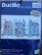 The Neighborhood  -  Cross Stitch Kit -  Bucilla.