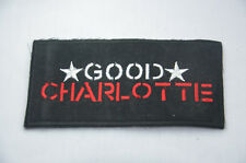 GOOD CHARLOTTE 9cm  Embroidered Sew Iron On Cloth Patch Badge Jacket T-Shirt GC2