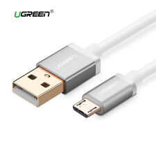 Cable Micro USB carga rapida movil y tablet UGREEN plata metalizado 1M 2M 3M