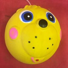Dog Toy 2.5 Inch Ball Latex Funny Face Squeaky Soft Blue Green Yellow Orange Red