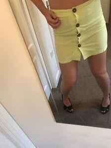 Womens Neon Summer Skirt Uk 10